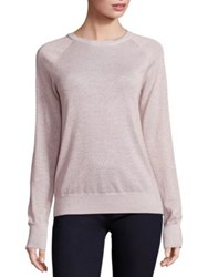 Equipment Sloane Lurex Crewneck Sweater Ivory Pink Lurex