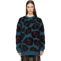 Marc Jacobs Blue Knit Tunic Sweater