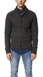 Apolis Boiled Wool Shawl Collar Cardigan Charcoal