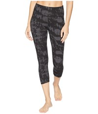 Jockey Active Macrame Printed Leggings Charcoal Heather Tie Dye Casual Pants Black