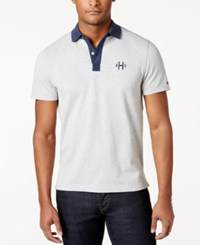 Tommy Hilfiger Men's Felix Polo Silver Heather