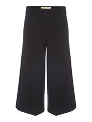 Michael Kors Side Zip Wide Leg Jeans Black