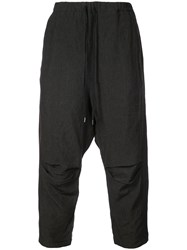 Individual Sentiments Drop Crotch Trousers Black