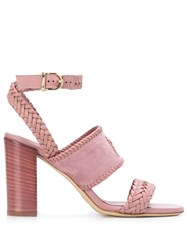 Tod's Woven Heeled Sandals 60