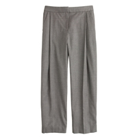 J.Crew Collection Pleated Crop Pant In Pinstripe Hthr Graphite Ivory