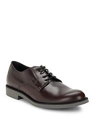 Tod's Italian Leather Dress Shoes Burgundy
