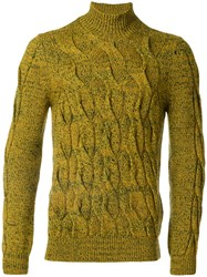 Missoni Cable Knit Jumper Men Wool 48 Yellow Orange