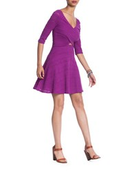 Plenty By Tracy Reese Laced Fit And Flare Dress Wild Orchid