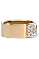 Valentino Gold Tone Crystal Ring
