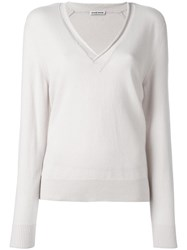 Tomas Maier V Neck Sweater Nude Neutrals