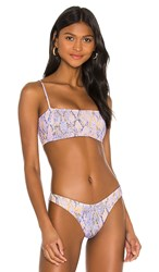 L Space Rebel Bikini Top In Lavender. Serpentina