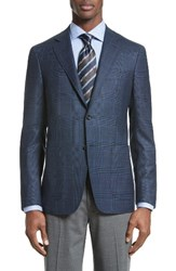 Canali Men's Classic Fit Plaid Wool Sport Coat