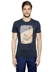 Ettore Bugatti Collection Iconic Slim Printed Cotton T Shirt