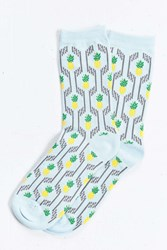 Urban Outfitters Pineapple Sock Sky