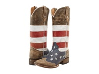 Roper American Flag Square Toe Boot Brown Women's Boots