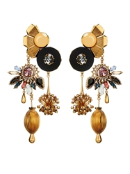 Vickisarge Sylvia Crystal Charm Earrings