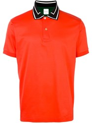 Paul Smith Contrast Collar Polo Shirt Yellow And Orange