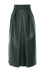 Martin Grant High Waisted Belted Skirt Green