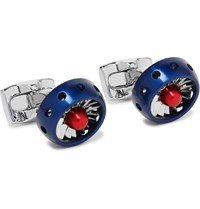 Deakin And Francis Raf Jet Turbine Engine Aluminium Cufflinks Silver