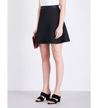 Sandro Flared Textured Mini Skirt Black