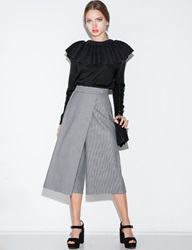 Pixie Market Houndstooth Wrap Culottes