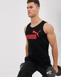 Puma Logo Tank In Black