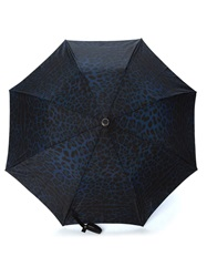 Dolce And Gabbana Leopard Print Umbrella Black