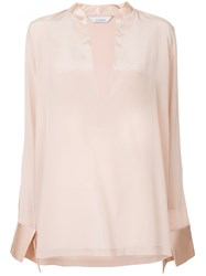 Kacey Devlin V Neck Blouse Silk Unavailable