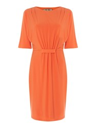 Biba Lace Detail Jersey Dress Orange