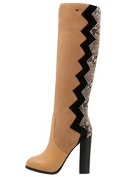 Elisabetta Franchi High Heeled Boots Tabacco Camel