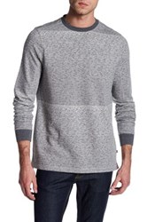 Indigo Star Barry Long Sleeve French Terry Gradient Sweater Gray