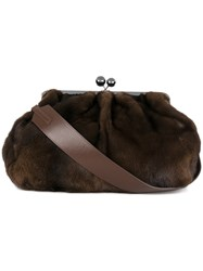 Max Mara Oversized Shoulder Bag Brown