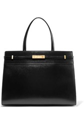 Saint Laurent Manhattan Medium Leather Tote Black