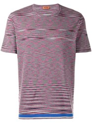 Missoni All Over Print T Shirt Pink