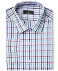 Club Room Estate Wrinkle Resistant Maritime Multi Gingham Dress Shirt Only At Macy's