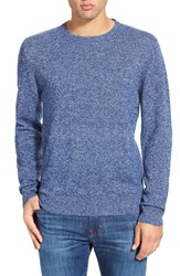 1901 Melange Knit Merino Wool And Cashmere Sweater Blue Thread Marl