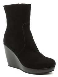 Daniel Krissy Wedge Ankle Boots Black
