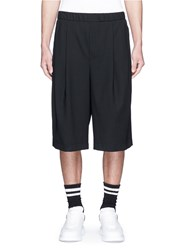 Mcq By Alexander Mcqueen 'Murphy' Virgin Wool Shorts Black