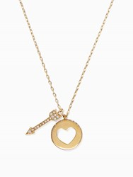 Kate Spade Be Mine Cluster Pendant Clear Gold