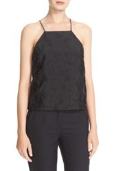 Milly Starburst Fil Coupe Trapeze Camisole Black