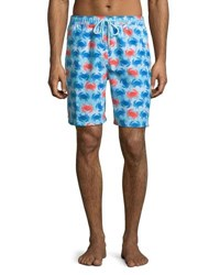Peter Millar Crab Shack Swim Trunks Dark Blue