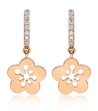 Boodles Mini Blossom Drop Earrings Rose Gold