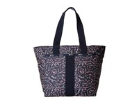 Le Sport Sac Everyday Tote Fairy Floral Blue Tote Handbags Black