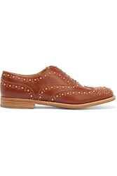 Church's The Burwood Met Studded Leather Brogues Tan