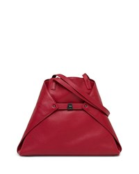 Akris Ai Medium Soft Shoulder Bag Crimson