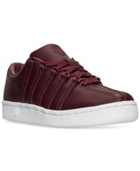 K Swiss Women's The Classic 88 Qtm Casual Sneakers From Finish Line Wine White