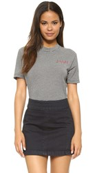 Wildfox Couture Sinner Embroidery Legend Tee Bodysuit Clean Black