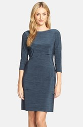 Petite Women's Tahari Melange Knit Jersey Sheath