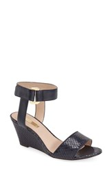 Women's Louise Et Cie 'Phiona' Leather Ankle Strap Wedge Sandal Navy