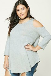 Forever 21 Plus Size Open Shoulder Tunic